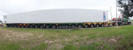 20 Line Trailer assembled to Transport a 32.5 Metre Cool Box – September 2013