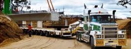 Bunbury Bypass – 115T Concrete Bridge Beams from Perth to Bunbury